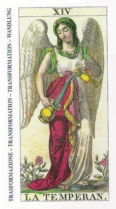14-Cartas de Tarot - La Templanza-Tarot, Astrología, Horóscopos, Metirta