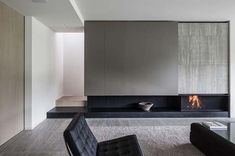 27 Fascinating minimalist fireplace ideas for your living room .- 27 Fascinating minimalist fireplace ideas for your living room - Minimalist Fireplace, Modern Fireplace, Fireplace Design, Minimalist Living, Fireplace Ideas, Simple Fireplace, Concrete Fireplace, Modern Minimalist, Minimalist Design