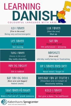 Learning Danish: Colourful Language with Arse.