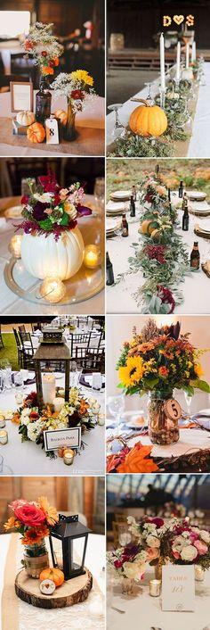 beautiful creative fall wedding centerpieces ideas