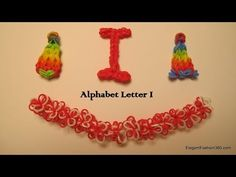 How to make alphabet letter I charm on Rainbow Loom