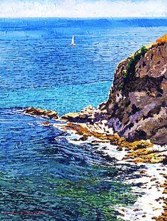 "California Coastline - David Lloyd Glover 20x16"" acrylic on canvas"