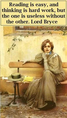 Reading is easy and thinking is hard work but one is useless without the other - Lord James Bryce (Author, Historian, Politician. UK, 1838-1922) ... Sogni / Dreams, 1896, by Vittorio Matteo CORCOS (Artist. Italy, 1859-1933) © Galeria Nazionale d'Arte Moderna, Rome, Italy. www.gnam.beniculturali.it/ Image via the-athenaeum.org art archive.