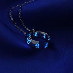 Glow in the Dark Rune Ring Stainless Steel, Glow in the Dark Jewelry, Geekery, Parabatai Ring, Glowing Aquamarina Buy a chain for him to put around his neck. Cute Jewelry, Jewelry Accessories, Magical Jewelry, Accesorios Casual, Fantasy Jewelry, Runes, Cool Stuff, Stuff To Buy, Jewelery