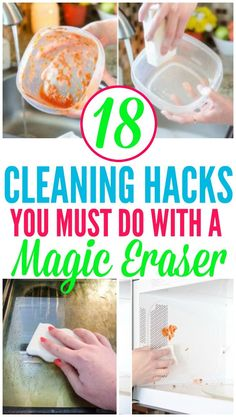 These Magic Eraser Hacks are great for projects around your home. Check out all the mind blowing ways you can use a Magic Eraser! Deep Cleaning Tips, House Cleaning Tips, Diy Cleaning Products, Cleaning Solutions, Spring Cleaning, Cleaning Hacks, Diy Hacks, Couch Cleaning, Apartment Cleaning