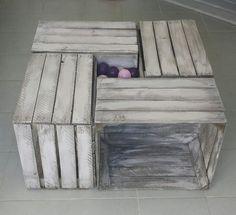 meuble t l acier et sapin massif avec caisses en bois assorties projet pinterest. Black Bedroom Furniture Sets. Home Design Ideas