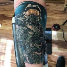 Halo tattoo done by @jessepinette. To submit your work use the tag #gamerink And don't forget to share our page too!  #tattoo #tattoos #tatuaje #tatuajes #ink #videogametattoo #gamertattoo #gamerink #videogames #gamer #gaming #xbox #xbox360 #xboxone #xbox1 #masterchief #halo #masterchieftattoo #halotattoo #xboxtattoo