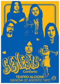 GENESIS  22 August 1972   Genova Italy  retro by tarlotoys on Etsy, €10.00