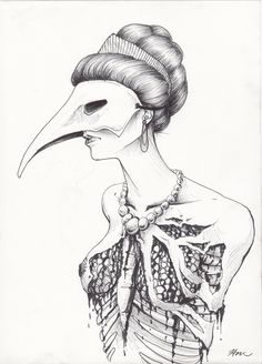 """Opulence pen and ink 8.5""""x11"""""""