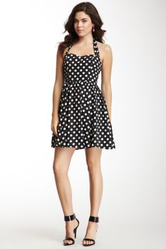 This is cute maybe with a red bow belt to accentuate the waist and add some color!