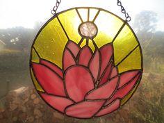 Lotus Chakra Reiki Yoga Stained Glass Suncatcher by PerizadCreations on Etsy
