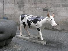 At the Cow Parade in Edinburgh, Scotland, 2006 - photo by Maggz, via Flickr