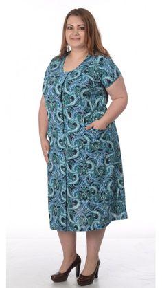 Халат на молнии с коротким рукавом для полных дам (64 - 82) | pravtorg.ru Casual, Dresses, Fashion, Gowns, Moda, Fashion Styles, Dress, Vestidos, Fashion Illustrations