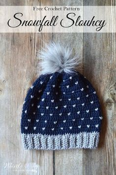 Crochet Snowfall Slouchy Hat - 15 Easy and Free Crochet Patterns to Stay  Warm This Winter b5590ae3e4
