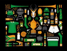 Springboks 2011  A collection of Springbok icons celebrating South African rugby culture.