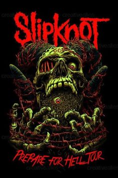 Prepare For Hell Tour (Slipknot) Hard Rock, Heavy Metal Art, Heavy Metal Bands, Metallica Art, Metal Band Logos, Emo Wallpaper, Punk Poster, Rock Band Posters, Band Wallpapers