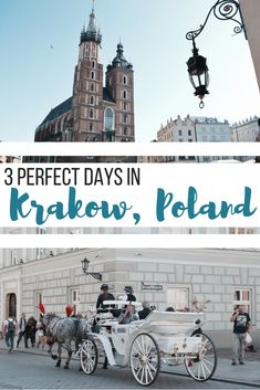 3 perfect days in Krakow, Poland. We visited the city center, the Jewish quarter together with the old and new jewish cementery, lots of churches, Schindler's Factory, Wawel Royal Castle, a free walking tour around the city and most impressively Auschwitz, the concentration camp from World War Two. #travel #visitpoland #visitkrakow