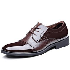 2d827748d98f Men Cap Toe Plush Lining Business Formal Dress Shoes is designed for the  formal occasion
