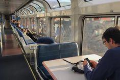 The Amtrak Lounge Car on the Coast Starlight line