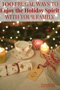 Step away from the commercialism of Christmas and instead choose a few things to do from this list of 100 Frugal Ways to Enjoy the Holiday Spirit With Your Family. Get back to the true meaning of the holidays with these frugal and family-friendly activiti Christmas Planning, Christmas On A Budget, All Things Christmas, Holiday Fun, Christmas Holidays, Merry Christmas, Christmas Decorations, Christmas Ideas, Xmas