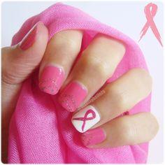 Manicuras y Belleza: Nail art contra el cáncer de mama: Octubre Rosa #nailart…