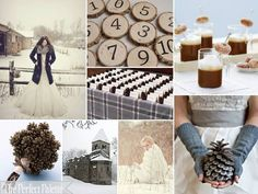 If we decide on a winter wedding this will totally be our color palette. Plus, I love the hot cocoa with mini sugar doughnuts idea!