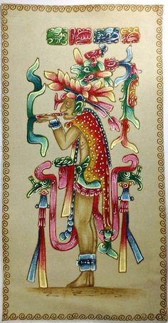 """Maya Kunst Pyrographie auf Leder """"el fumador"""" von LaSombrilla auf DaWanda.com"""