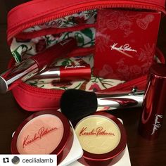 #Repost @cecilialamb with @repostapp  A gorgeous floral-lined makeup pouch to celebrate 30 years of Kesalan Patharan #KesalanPatharan #Happy30thBirthday #30thAnniversary #limitededition #specialedition #flowers #red #FireRed #JBeauty #madeinjapan #japan #thanksToshiya @fudejapan  Eye color N: A 17; Face color: 27 and 102; Smooth lips: PK 01; Lash lifter: BK 01