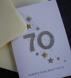 70th Birthday card that would work for a man.