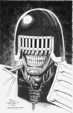 Judge Death by Brian Bolland Comic Art