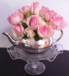 Flowers for a high tea.