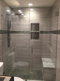 This unique thing is undeniably an interesting style approach. Bathroom Vinyl, Master Bathroom Shower, Bathroom Renos, Bathroom Renovations, Bathroom Design Luxury, Bathroom Design Small, Restroom Design, Shower Remodel, Bathroom Styling