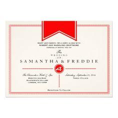 Mid-Century Modern Typography Wedding Invitations