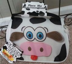 """SNACK PETS Insulated Freezeable Lunch Box """"Milky"""" Cow Ages 3+ #TVDirect"""