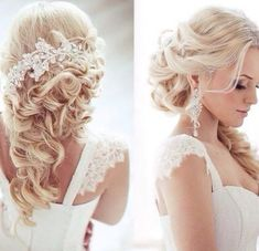 Wedding hair. Half up half down! Stunning!!