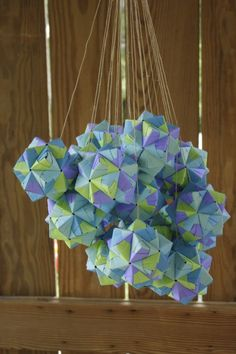 Folded origami candy boxes as favors and decorations | Offbeat Bride