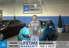 Congratulations to William Posnett IV on your #Honda #Fit purchase from Derek Clarkson at Honda of Denton! #NewCar