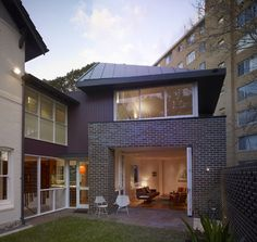 Contemporary Home brick exterior Design Ideas, Pictures, Remodel and Decor