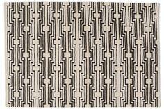 Optik Flat-Weave Rug, Black