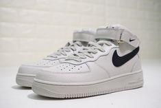 100% authentic ed617 55528 NIKE AIR FORCE 1 MID LIGHT BONE BLACK UNISEX SNEAKER 315123 047
