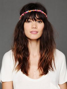 Gypsy Junkies Stone Ribbon Headband at Free People Clothing Boutique.. the Bangs i am getting very soon!
