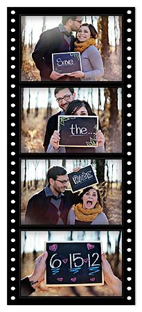 MAGNET Save the Date Wedding Film Strip