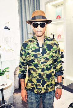 Pharrell Williams, best dressed man by far via The Coveteur