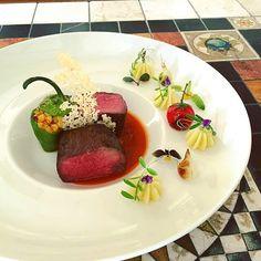 """foodartchefs: By @chef_yankavi """"Keşkek wheat baked inside the peppers steak…"""