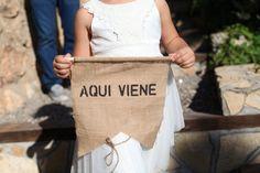 Banderolas personalizadas para la boda de Laura&Julio *yodeBlancoytudeNegro*