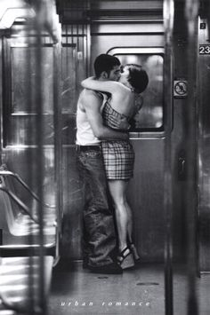 Kiss on the train as it rumbles from London to Paris!  15 year wedding anniversary trip. Can. Not. Wait!!
