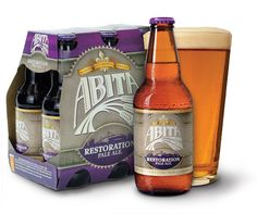 Abita Restoration Pale Ale® is brewed with pale, caramel and carapils malts. It is liberally hopped and dry hopped with Cascade hops. This golden ale has a rich body, mild bitterness, and a snappy citrus hop flavor and aroma.