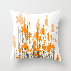 Orange Spring Bouquet on White Background Throw Pillow by pivivikstrm Couch Pillows, Down Pillows, Floor Pillows, Orange Throw Pillows, Spring Bouquet, Designer Throw Pillows, Pillow Design, Pillow Inserts, Framed Art Prints
