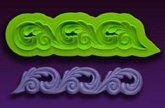 Marvelous Molds silicone scroll mold -Scroll Border- fondant gum paste cake #MarvelousMolds