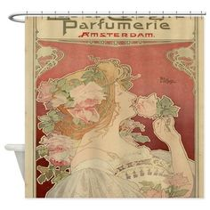 art nouveau shower curtain | furnishings and household | pinterest